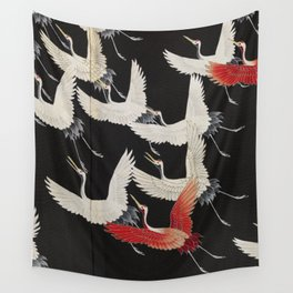 Furisode with a Myriad of Flying Cranes (Japan) Wall Tapestry