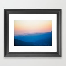 Sentinel Dome Sunset Framed Art Print
