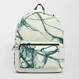 Hands tangled together in teal seagreen bluegreen green color Backpack