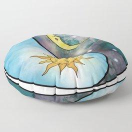 balance | yin yang | sun moon Floor Pillow