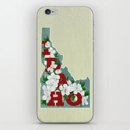 State Florals - Idaho Floral Watercolor - Red iPhone Skin