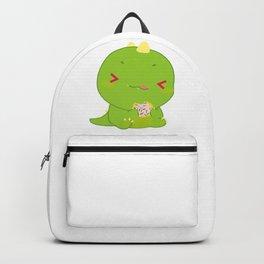 Baby Dinosaur Eating Food Backpack