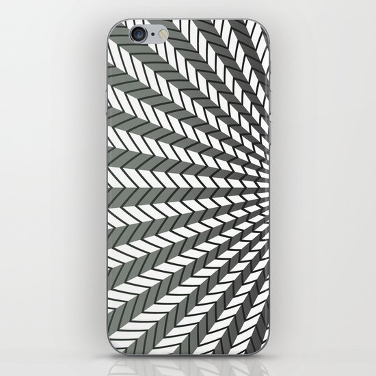 Low Peaks - Black & White iPhone & iPod Skin