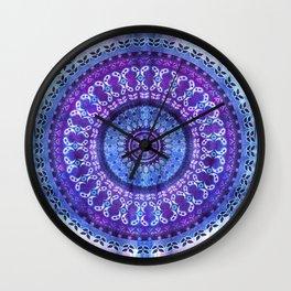 Hydrangea Mandala Wall Clock
