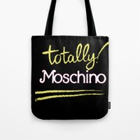 moschino Tote Bags featuring Totally Moschino Black by RickyRicardo787