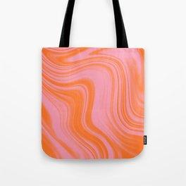 Liquid pink and orange Tote Bag