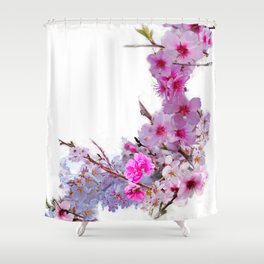 Blossoms That Shape Japan Shower Curtain