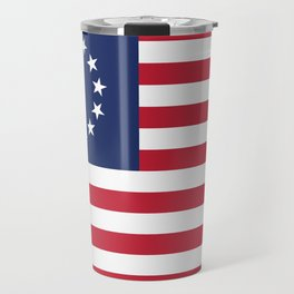 Betsy Ross flag of the USA - Authentic HQ version Travel Mug