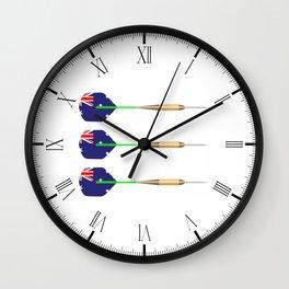 Australian Darts Flag Set Wall Clock