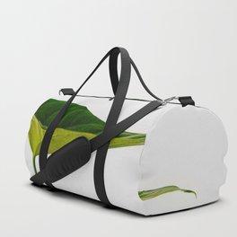 Minimal Green Leaf Duffle Bag