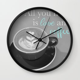 Love and Coffee Wall Clock