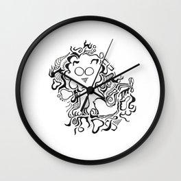 Lion Lineart Wall Clock