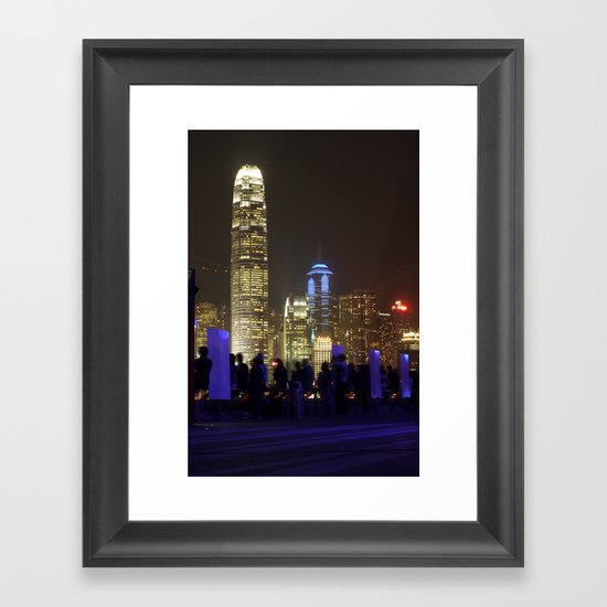 Hong Kong Nightscape Framed Art Print