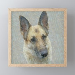 Unconditional Love Holly German Shepard Framed Mini Art Print
