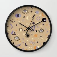 universe Wall Clocks featuring Universe by Marta Olga Klara