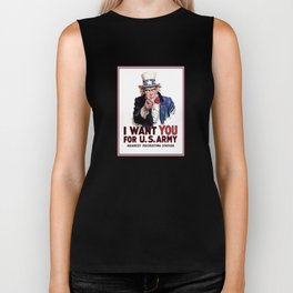 I Want You - Uncle Sam Biker Tank
