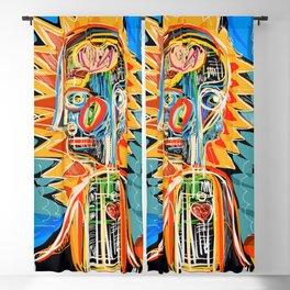 """Child"" street art brut expressionist digital painting Blackout Curtain"