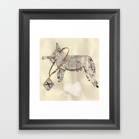 Love: A Bitch Framed Art Print