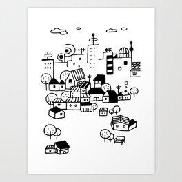 little city Art Print