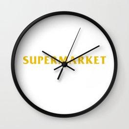 Supermarket Wall Clock