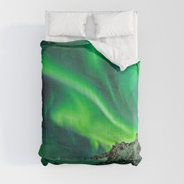 Northern Lights - Aurora Borealis_Winter Comforters