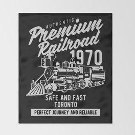 authentic premium railroad Throw Blanket