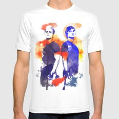 The Salvatore Brothers White MEDIUM Mens Fitted Tee
