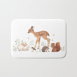 Woodland Friends Bath Mat