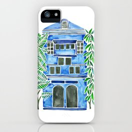 Tropical Blue House iPhone Case