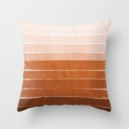 Sunset - rust, terracotta, clay, desert, sunshine, boho, ombre, paint, sunset colors,  Throw Pillow