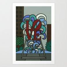 pop LOVE park Art Print