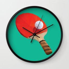 Ping Pong Paddle polygon art Wall Clock