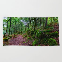 The road to nature Beach Towel