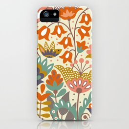 Forest flowers iPhone Case