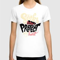 religious T-shirts featuring Socks Don't Protect My Heart by Chris Piascik