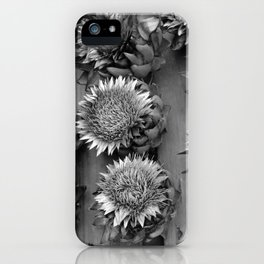 Artichokes, black-and-white photography iPhone Case
