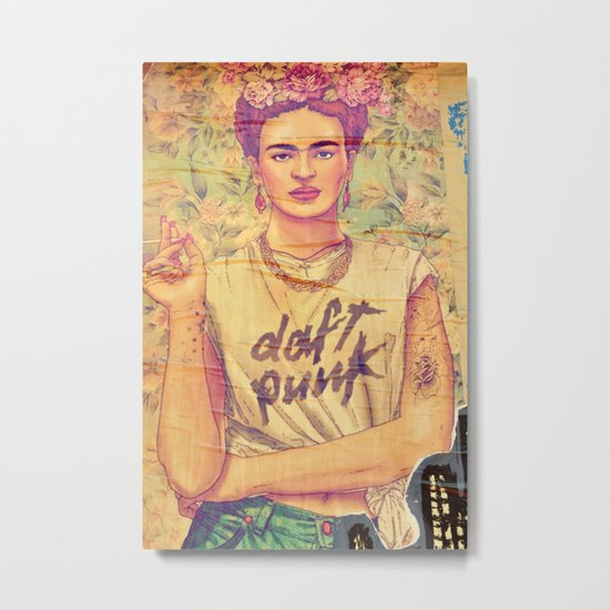 daft punk & frida Metal Print