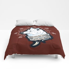 Wolf Protector (Red Edition) Comforters