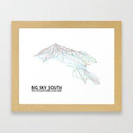 Big Sky, MT - Southern Exposure - Minimalist Trail Map Framed Art Print