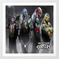 ninja turtles Art Prints featuring ninja turtles  , ninja turtles  games, ninja turtles  blanket, ninja turtles  duvet cover by ira gora