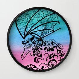 Lace Dragon Wall Clock