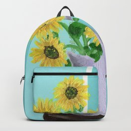 Sunflowers on Blues Backpack