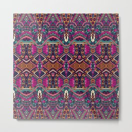 Purple Tribal Metal Print