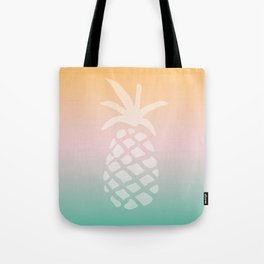 Ombre Pineapple - Tropical Pastel Tote Bag