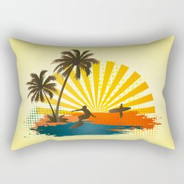 Surfers Rectangular Pillow