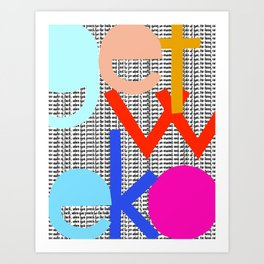 Get Woke Art Print