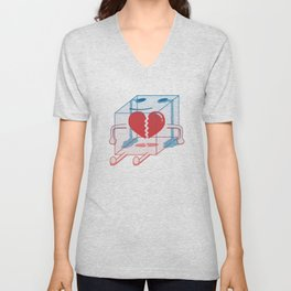 Little Box of Broken Heart Unisex V-Neck