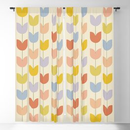 Tulip Pattern - Rainbow Blackout Curtain