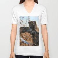 ufo V-neck T-shirts featuring UFO by IowaShots