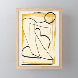 Abstract line art 4 Framed Mini Art Print